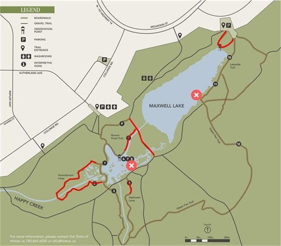 Map of Beaver Boardwalk Closures