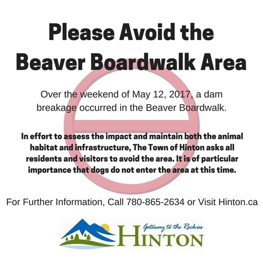 Please Avoid the Beaver Boardwalk