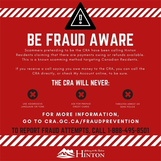 Cra Scam Attempts Reported In Hinton