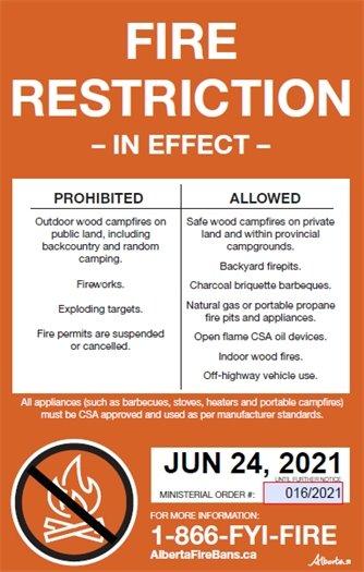 Fire Restriction in Effect