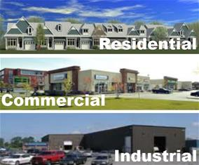 Residential, Commercial, Industrial