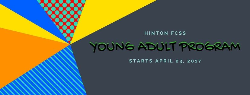 Banner displaying young adult program