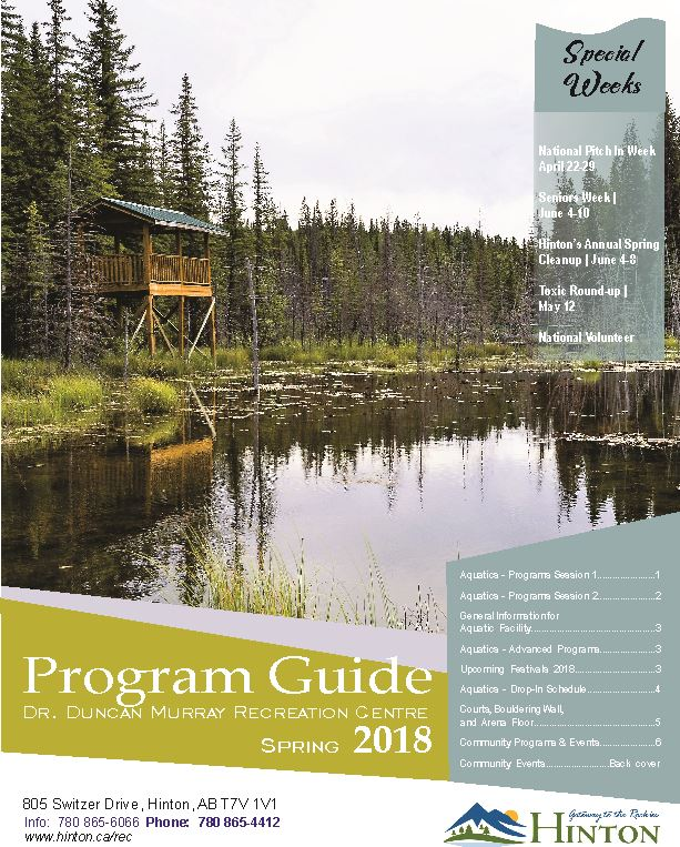 2018 Spring Guide - Cover