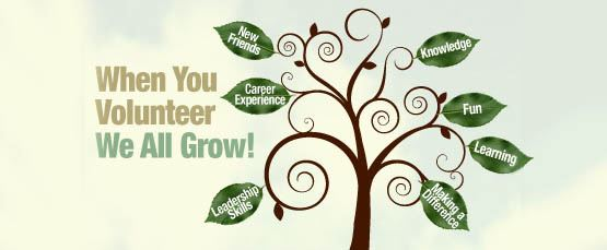 When you volunteer we all grow image of a tree