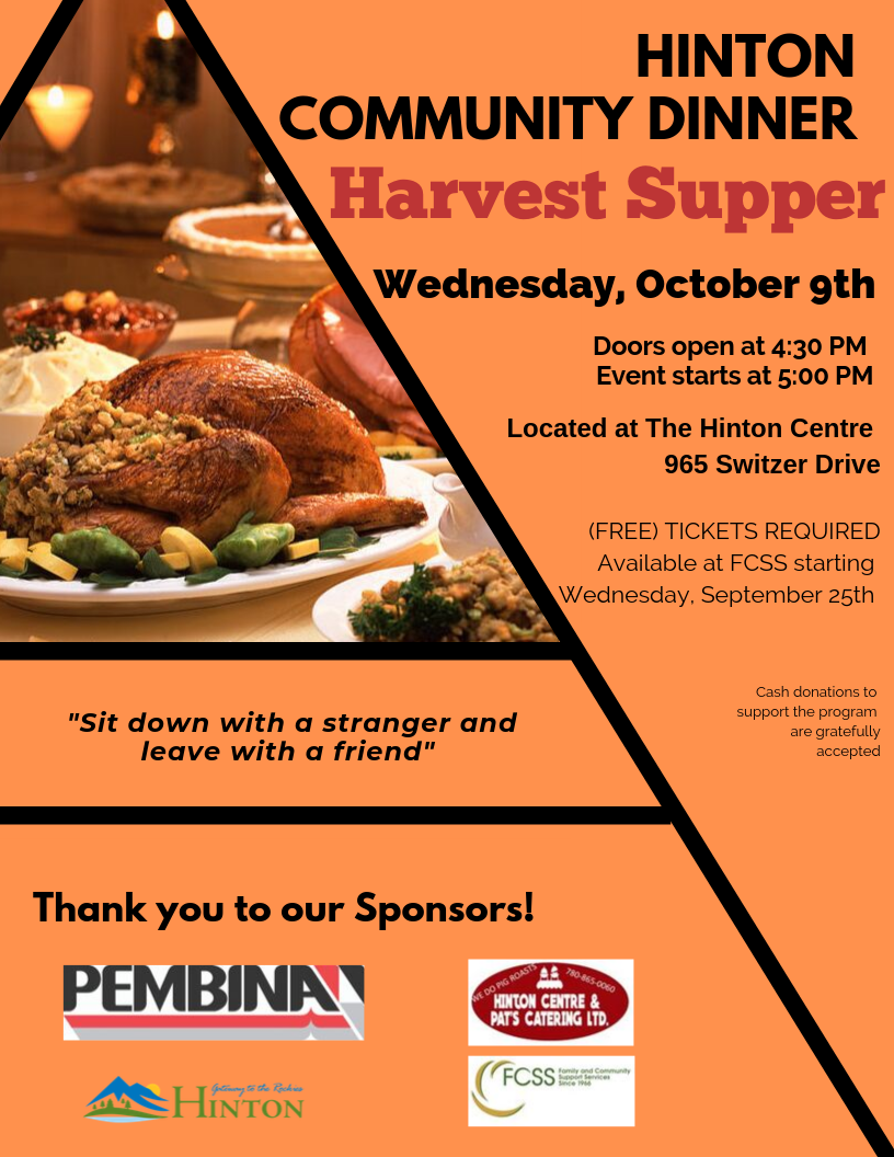 2019-10-09- Harvest Supper Poster