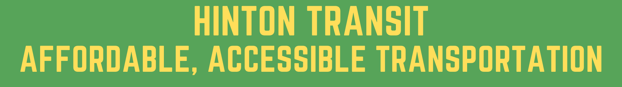 HINTON TRANSIT affordable, accessible transportation